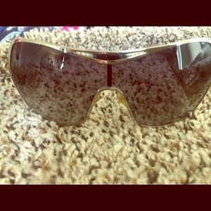Christian Dior sunglasses with tortoise side